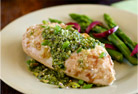 Garlic-Lime Chicken with Pistachio-Jalapeno Pesto