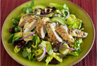 Herb Chicken Paillard Salad with Creamy Mango Dressing